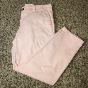 OLD NAVY pink cropped/green cropped pants